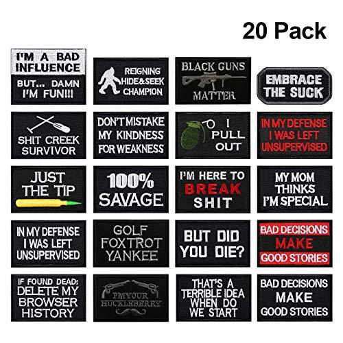 Velcro hoed Patches Tactical Morale volledige borduurwerk patch voor caps, tassen, rugzakken, tactische vest, militaire uniformen 20 pieces-A
