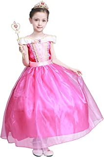 Girls New Princess Party Costume Long Dress