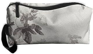 Kla Ju Portable Pencil Bag Purse Pouch Vintage Ink Paint Stationery Storage Organizer Cosmetic Holder