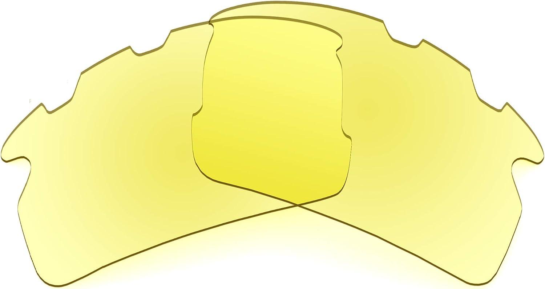 Revant Verres de Rechange pour Oakley Flak 2.0 Vented - Compatibles avec les Lunettes de Soleil Oakley Flak 2.0 Vented Jaune Traceur - Non Polarisés