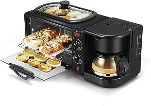 3-en-1 Tamaño de la familia eléctrico desayuno máquina, cafetera, plancha, horno tostador
