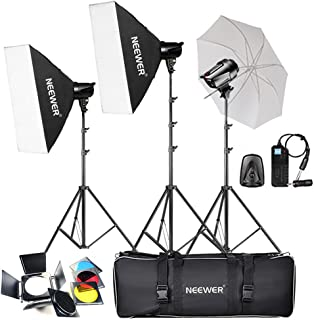 Neewer 540W(3X180W) Professional Photography Studio Flash Strobe Light Lighting Kit for Photo Studio Portrait Photography, Video Shoots (T-180B)
