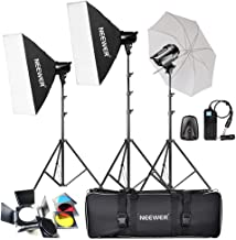 Neewer 540W(3X180W) Professional Photography Studio Flash Strobe Light Lighting Kit for Photo Studio Portrait Photography, Video Shoots (T-180B)