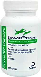 Dechra Eicosa 3FF SnipCaps Small Dogs Cats Under 60 lbs (60 Count)