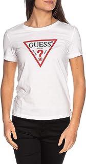 Guess T-Shirt Donna in Cotone biologico Regular fit Bianco ES21GU07 W1RI00I3Z11