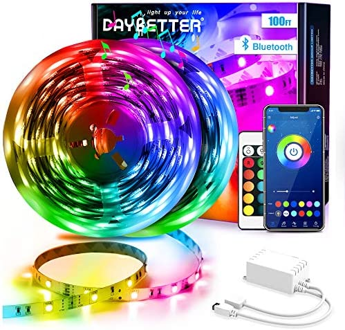 Daybetter Led Strip Lights 100ft 2 Rolls 50ft Bluetooth Light Strips with App Control Remote product image