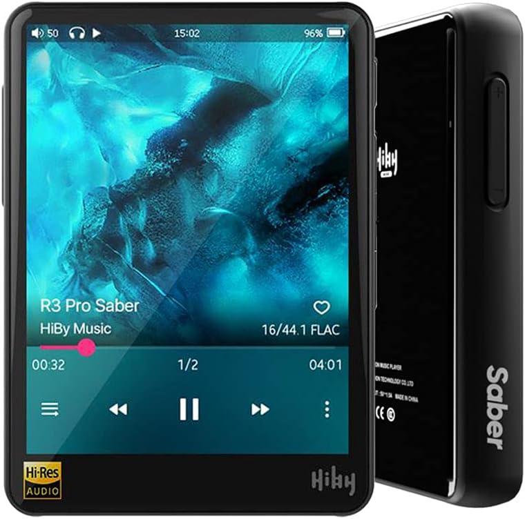 HiBy R3 Pro Saber, Hi-Res Music Player, Hi-Fi Lossless Audio Player, mp3 Player with Bluetooth and WiFi/aptX/LDAC/MQA/DSD/FLAC/Dual ES9218P/Full...