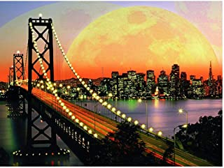 Diamond Painting Sunset Bridge Landscape By Number Kits For Home Decor,Diy 5D Crystal Rhinestone Embroidery Pictures Arts,...