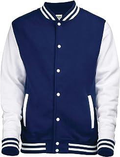 AWDis Unisex Varsity Style Jacket Oxford Navy/White Large