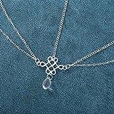 Jovono Boho Waterdrop Head Chain multicapa accesorio para el pelo para mujeres y niñas (plata)