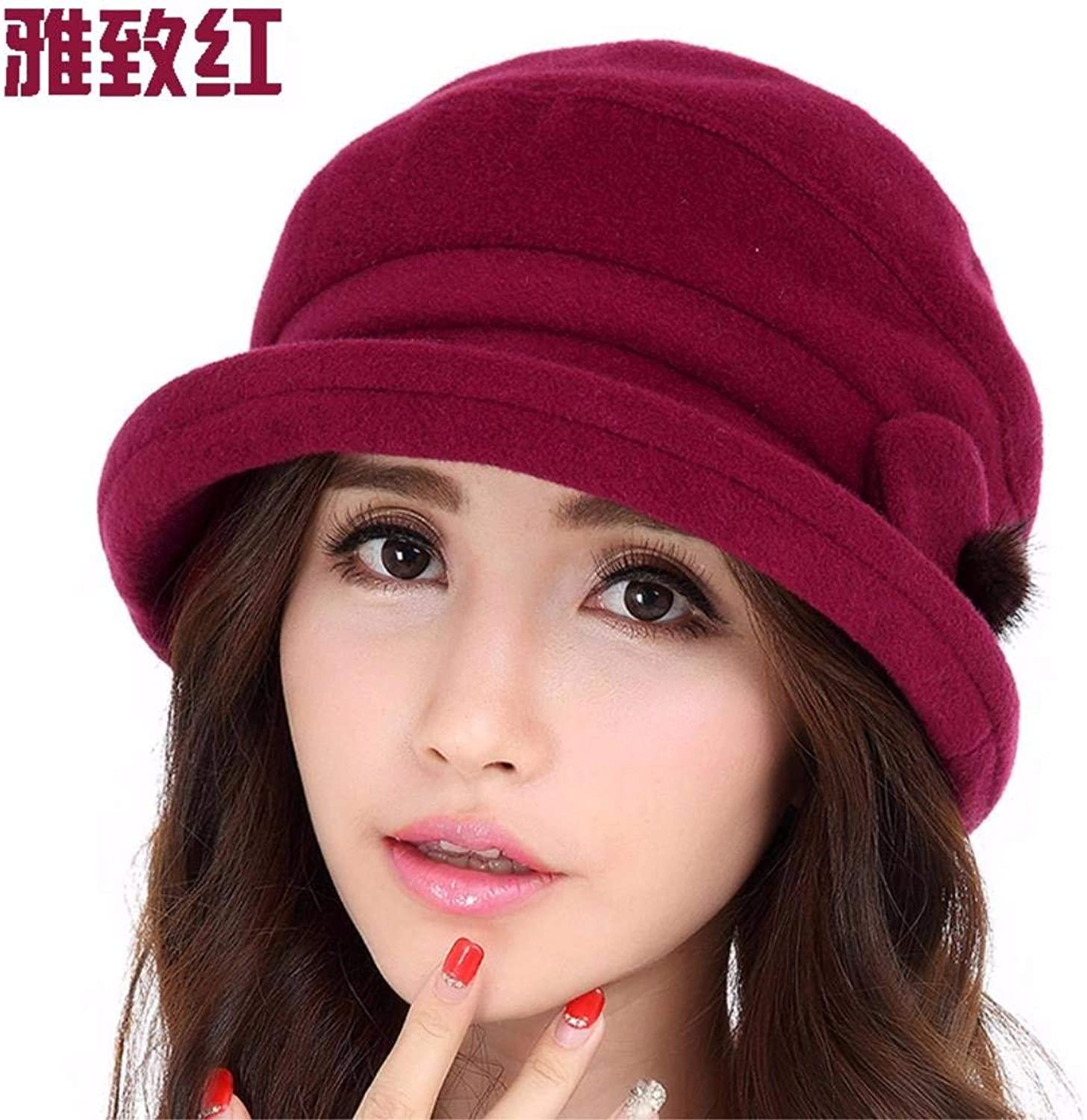 Dingkun The volume of the small gift hats, warm winter and autumn Bailey English style WINTER HAT