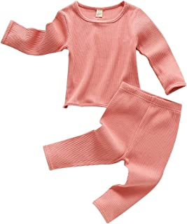 Baby Boy Summer Shorts Girl Cotton Winter T-Shirt and Elastic Pants Solid Clothes 2Pcs Outfits Toddler Set