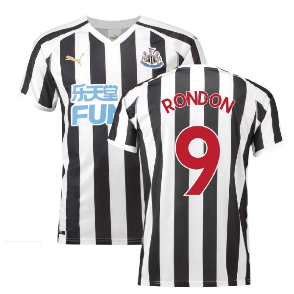 UKSoccershop Newcastle 2018-2019 - Camiseta de fútbol para el hogar (Salomon Rondon 9), Hombre, Blanco, 4XL Adults: Amazon.es: Deportes y aire libre