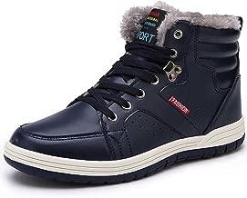 FiveStoresCity Mens Snow Boots Winter Waterproof Shoes Outdoor Warm Sneakers Fur Lining