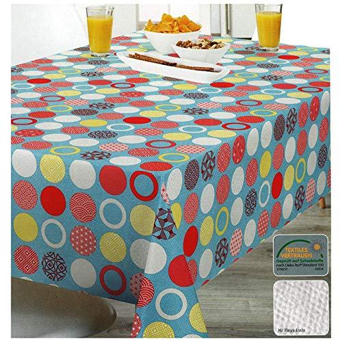 Heimtexland tafelzeil tafelkleed, verschillende designs, 100 x 140 cm, hoogwaardige kwaliteit, met vliesachterkant, tafelkleed, wasdoek, antislip, afwasbaar, ÖKOTEX-gecertificeerd, type 515