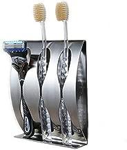 flintronic ® Zahnbürstenhalter Selbstklebende, Wand Befestigter Edelstahl Bad Zahnbürstenhalter Wandmontage Durable Halter Paste Für Bad Küche, Ohne Bohren (3 Löcher)