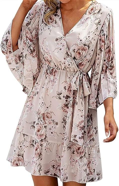 HSY SHOP Vestidos de Mujer Vestido de Blusa Camisa Larga ...