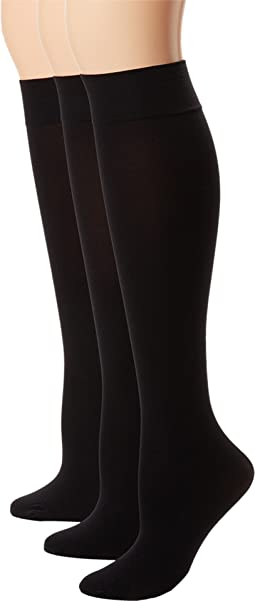 Soft Opaque Knee High 3-Pack