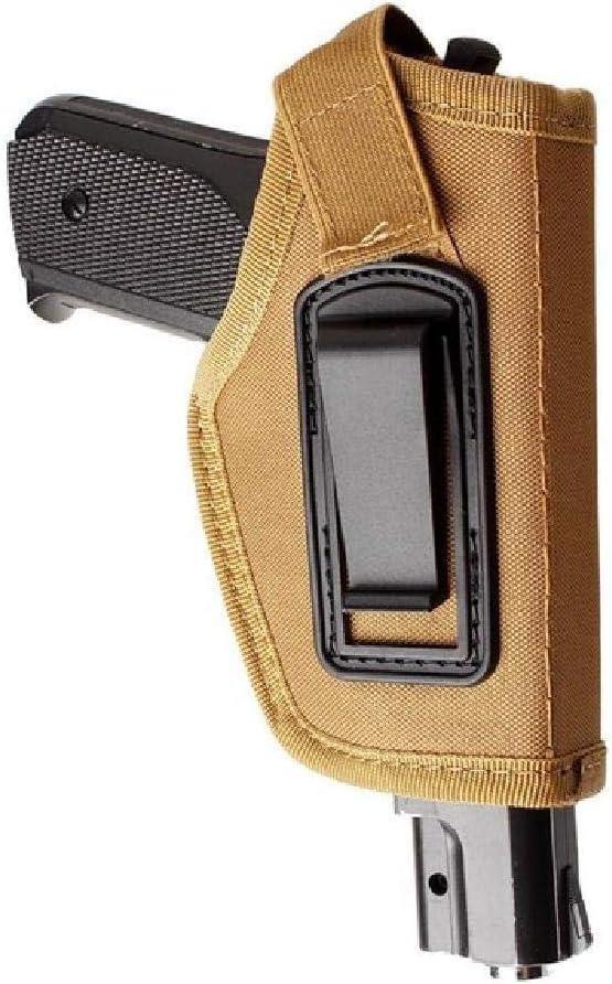 BGJ Funda de Pistola táctica Glock Revolver Airsoft Funda de Pistola Funda de Transporte de Pistola Funda de Pierna de Caza Cinturones de Nailon Cinturón de Cintura