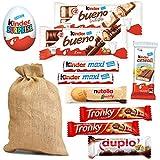 SACCO + DOLCI per CALZA della BEFANA Mix Dolcetti Bambino Kinder Cereali Maxi Duplo Tronky Ferrero Bueno