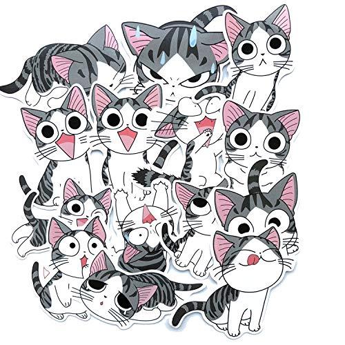 Cute Cartoon Children Cheese Cat Suitcase Suitcase Laptop Refrigerator Animal Stickers 28pcs