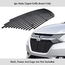 APS Compatible with 2016-2019 Honda HR-V Main Upper Stainless Black Billet Grille Grill Insert N19-J41366H