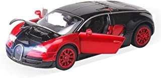 ZHFUYS Model Bugatti Veyron Toy Cars,1:32 Die cast Alloy car Toys, Gift for Kid 3, 4, 5, 6, 7,8,9,10 Years Old (Red) …