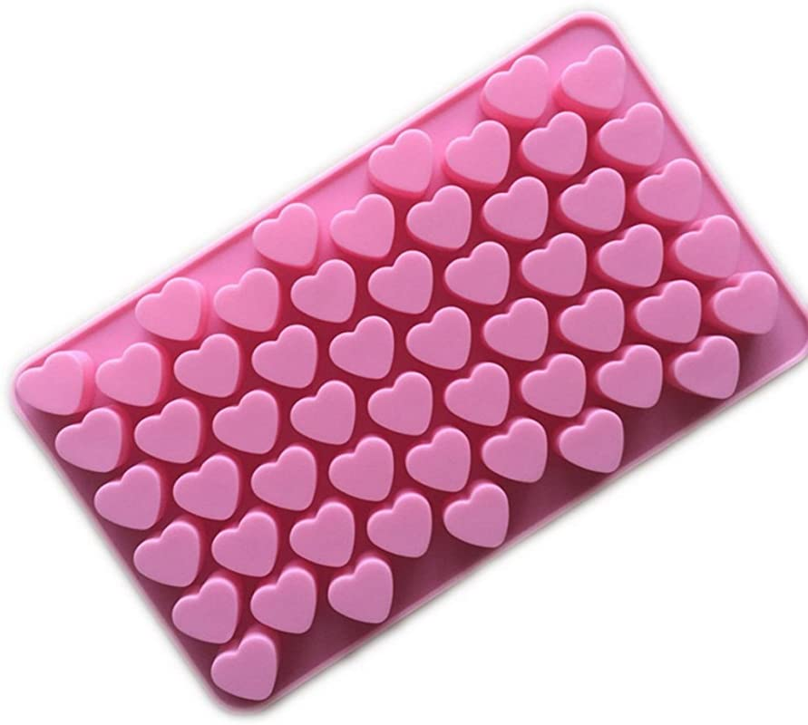 Heart Shape Silicone Ice Chocolate Cake Jelly Candy Mould Mini Tray Pan Cube 1pcs