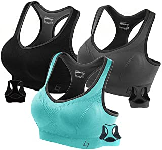 Racerback Sports Bras for Women- Padded Seamless High...