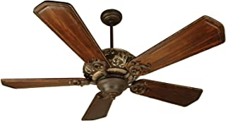 Craftmade K10327 Ophelia Ceiling Fan with Custom Carved Ophelia Walnut/Vintage Madera Blades, 52