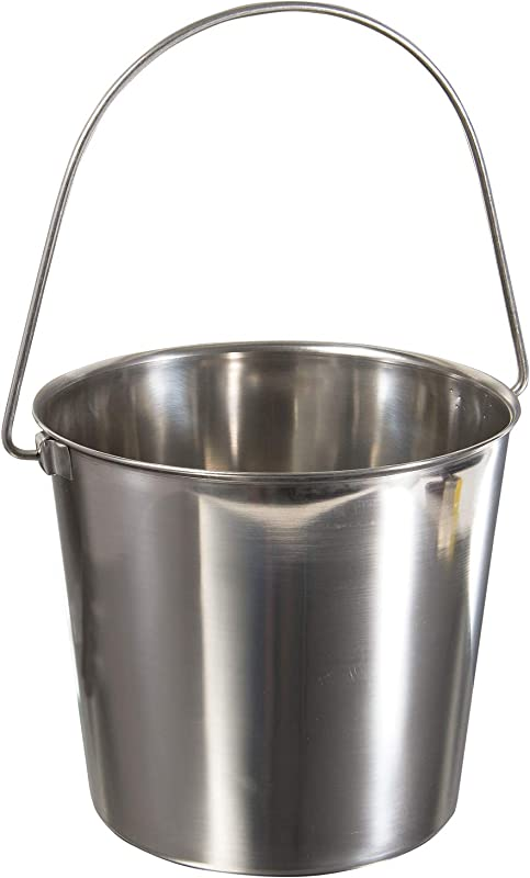 Update International UP 13 13 Quart Utility Pail 202 Stainless Steel