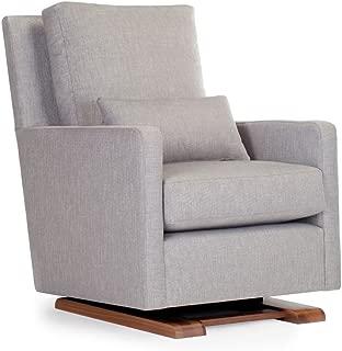 Monte Design Upholstered Modern Nursery Como Glider Chair, Pebble Grey