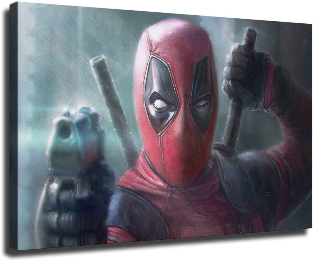Limited time trial price Limited Special Price Cartoon Character Deadpool Picture Print Home Oil Deco Painting