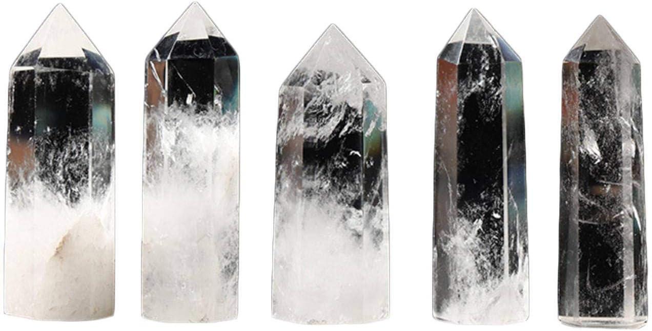 Houston Mall N\C White Crystal Column Prism Hexagonal Single-Pointed Tampa Mall