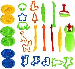 Toddmomy 26Pcs Playdoh Dier Mallen Klei Deeg Set Leren & Onderwijs Speelgoed Deeg Tool Kit Voor Kids