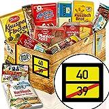 Geschenke mit Keksen / DDR Geschenk / Ortsschild 40 / 40. Geburtstag Geschenke