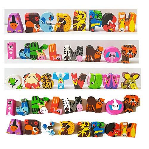 24 Radiergummi mit Buchstaben Tier Figuren A Bis X - ideal für Büro, Schule und als Mitgebsel - vertrieb durch ABAV