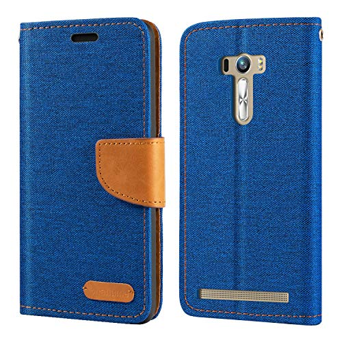 Schutzhülle für Asus ZenFone Selfie ZD551KL, Oxford-Leder, Brieftaschen-Schutzhülle mit weichem TPU-Rückdeckel, Magnetverschluss, für Asus ZenFone Selfie ZD551KL