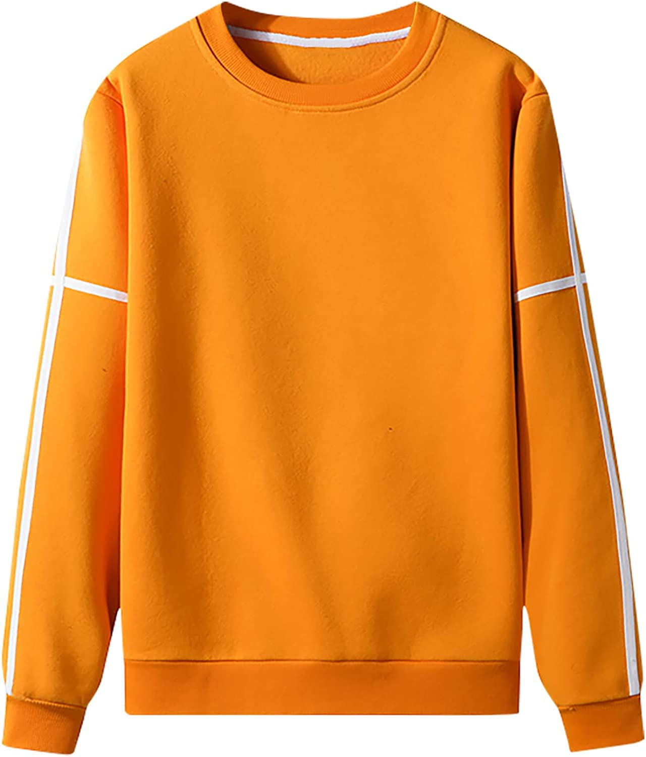 Men Casual Solid Basic Pullover Houston Mall Baltimore Mall Round Sweater Top With Webb Neck