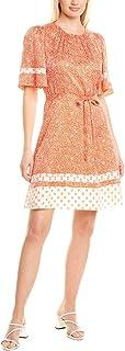 Rebecca Taylor Women's Short Sleeve Block Mix Dress