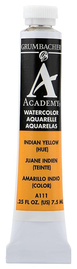 Grumbacher Academy Watercolor Paint, 7.5ml/0.25 Ounce, Indian Yellow Hue (A111)