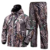 STARTAIKE Hunting Gear Suit for Men Camouflage Hunting Hoodie Jacket Windproof Real-Tree Camo