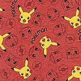 Pokemon Stoff – Pokemon rot – RK313 – ab 0,5 Meter