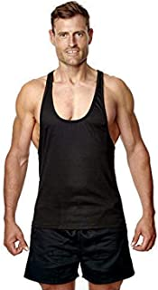 Athletic Sportswear | Mens Stringer Vest Sleeveless Top Racerback Cotton | for Gym Sports Bodybuilding Weightlifting | Act...