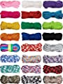 24 Pieces 10 Feet Paracord Cord 550 Multifunction Paracord Cord Ropes Paracord Bracelet Crafting Rope for Lanyards Keychain Dog Collar Woven Manual Braiding DIY Supplies, 24 Colors