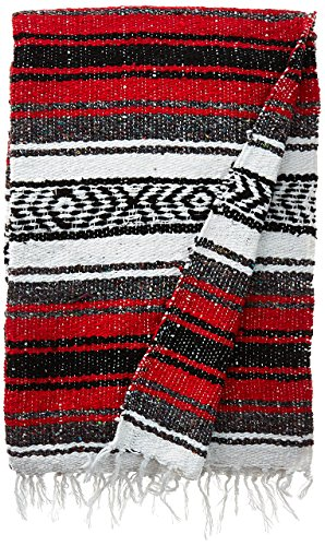 EarthRagz Authentic Mexican Blanket (Red)