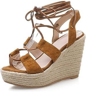 21e4662449b373 MENGLTX Talon Aiguille Talons Hauts Sandales Nouvelle Arrivée Femmes  Sandales en Cuir Chaussures D'Été