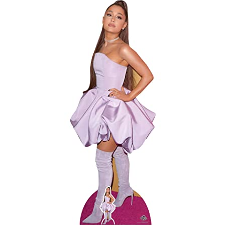 Star Cutouts- Ariana Grande Lifesize Cartón recortado cantautor estadounidense altura 163 cm viene con mini escritorio standee, Multicolor (CS780)