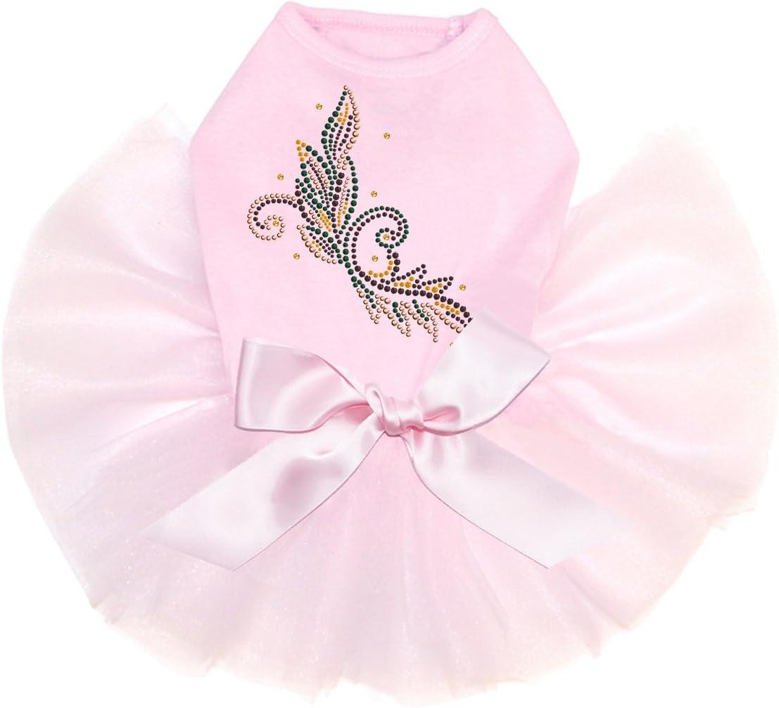 Fall Leaves # 2 - Bling 5 popular Dog Tutu M Dress Rhinestone New popularity Pink
