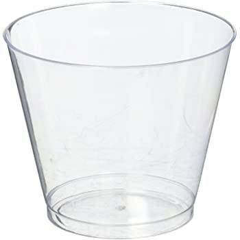 40-Count Party Essentials Deluxe//Elegance Hard Plastic 9-Ounce Party Cups//Old Fashioned Tumblers Clear N425810